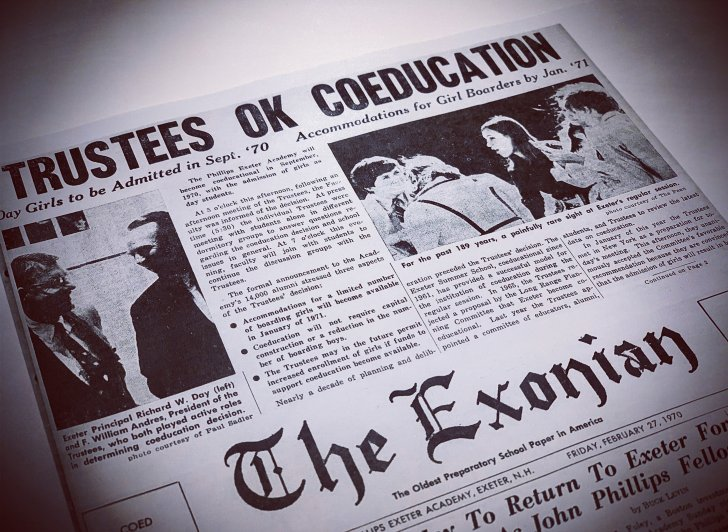 Front page of The Exonian from Feb. 27, 1970.