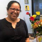 Exeter Alum Maribel Hernández Rivera in her office