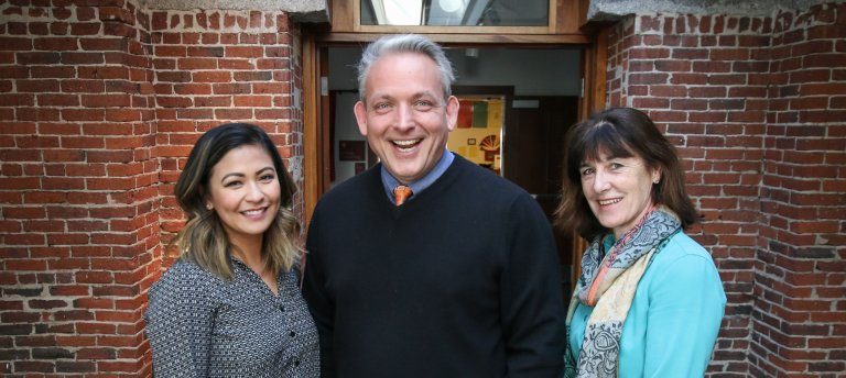 Exeter College Counselors: Sherry Hernandez, Cary Einhaus and Betsy Dolan.